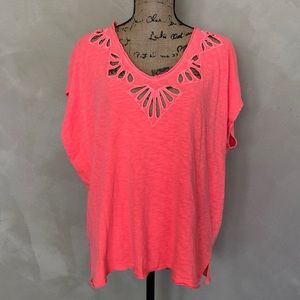 Free People cotton short sleeve top blouse